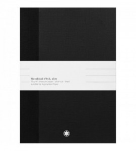 2 carnets #146 Montblanc Fine Stationery Slim, noirs, lignés, pour l'Augmented Paper