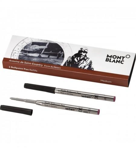 2 recharges de stylo bille Writers Edition, Antoine de Saint-Exupéry