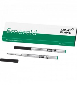 2 recharges pour stylo bille Emerald Green